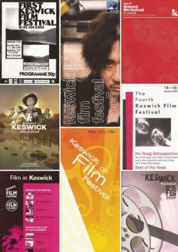 A selection of previous festival programme covers